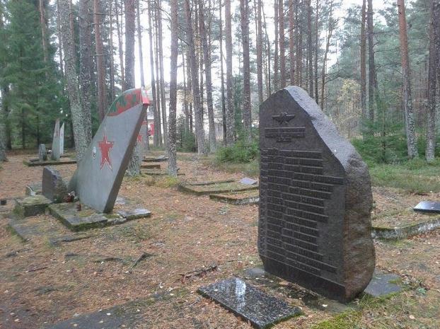 <figcaption>Graveyard of Soviet Airmen, Amari, Estonia  (Photo Credit: Major Theodore McIntire, USAF, Retired)</figcaption>