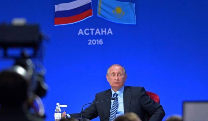 <figcaption>Russian President Vladimir Putin attends a business forum in Astana, Kazakhstan, Tuesday, Oct. 4, 2016</figcaption>