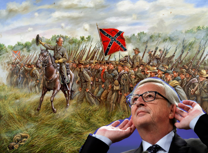 <figcaption>The South will rise again now that they have a secret weapon: an idiot from Luxembourg</figcaption>