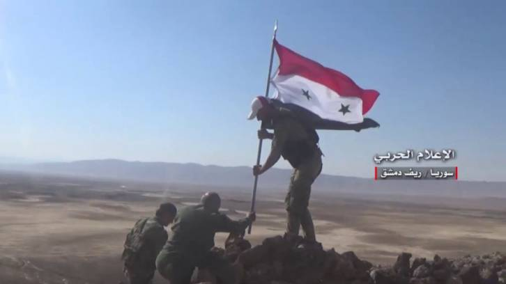 <figcaption>The Syrian troops are advancing towards Deir ez-Zor</figcaption>
