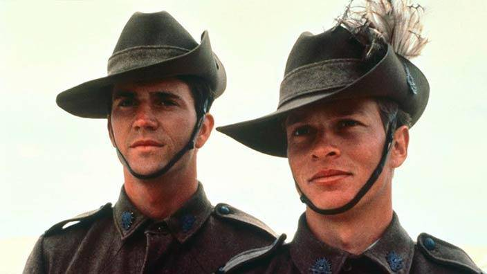 <figcaption>Australia has a history of providing cannon fodder to globalists.  A young Mel Gibson in a scene from the 1981 film 'Gallipoli', where Aussies were massacred in WW1 thanks to the gross incompetence of Winston Churchill.</figcaption>
