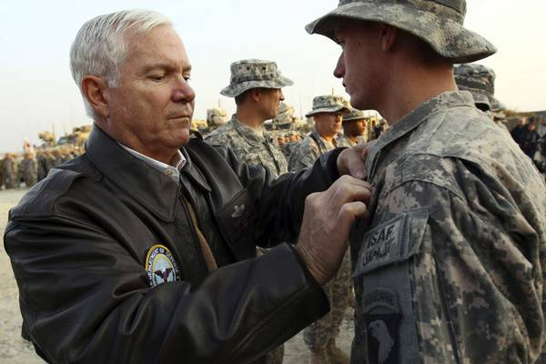<figcaption>CIA director and Secretary of Defense, Robert Gates is a careerist who pressured Obama into a disastrous Afghan war</figcaption>