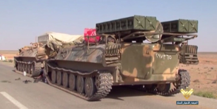 <figcaption>SAA advancing with 9K35 Strela-10 in tow</figcaption>