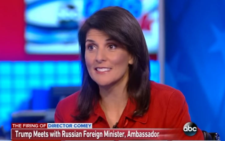 <figcaption>Nikki Haley and her famous MKULTRA zombie smile</figcaption>
