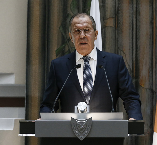 <figcaption>Sergey Lavrov never minces his words</figcaption>