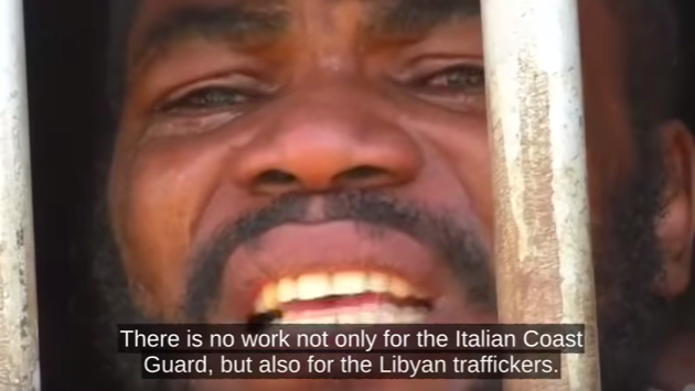 <figcaption>Amazing footage of what are effectively slave camps in North Africa</figcaption>