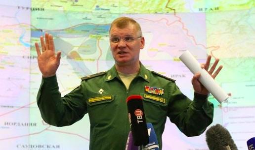 <figcaption>Defense Ministry Spokesman General Konashenkov</figcaption>