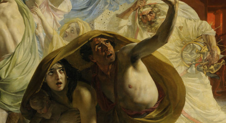 <figcaption>Detail from the painting 'Last Days of Pompeii', by the great Russian-German painter Karl Briulllov</figcaption>
