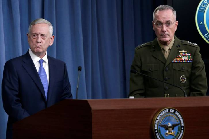 <figcaption>Mattis and Dunford put the foot down on Bolton-Trump. Saved the day</figcaption>