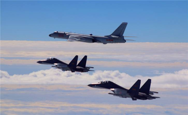 <figcaption>Chinese Air Force planes</figcaption>