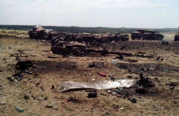 <figcaption>Russian drone-guided artillery did indeed prove devastating in Donbass, 2014</figcaption>