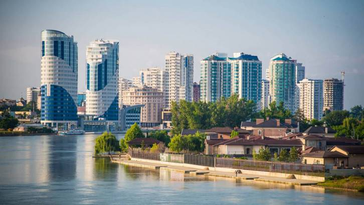 <figcaption>The rapidly developing city of Krasnodar in southern Russia ranked first overall, with a high environmental score. (tvkrasnodar.ru)</figcaption>