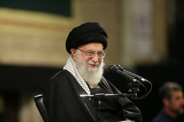 <figcaption>Iran's religious leader Ayatollah Ali Khamenei speaks at a gathering with Iranian Air Force personnel in Tehran on February 8. Photo: AFP / Anadolu / Iran's Religious Leader Press Office</figcaption>