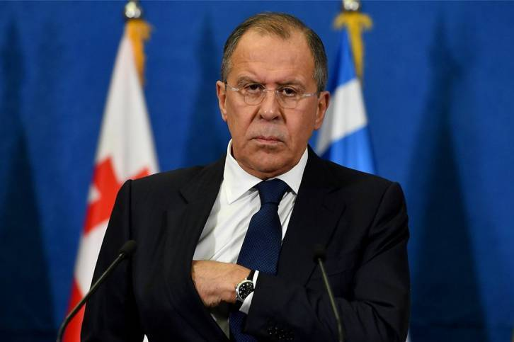 <figcaption>It fell on Lavrov to deliver the message</figcaption>