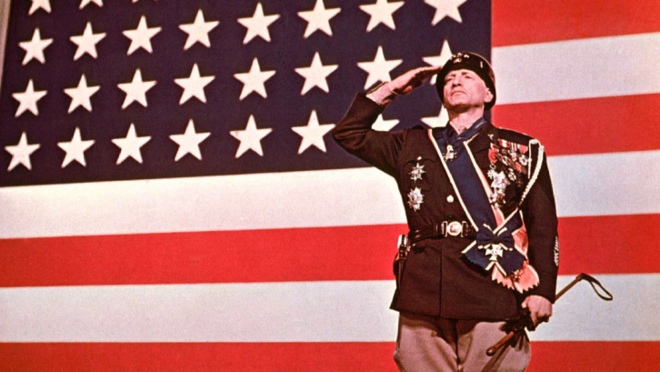 <figcaption>Actor George C. Scott playing General Patton</figcaption>