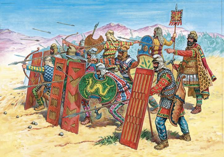 <figcaption>Darius, summon the Scythian military advisers.</figcaption>