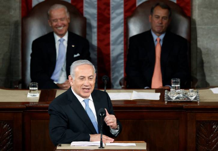 <figcaption>Netanyahu addressing his government</figcaption>