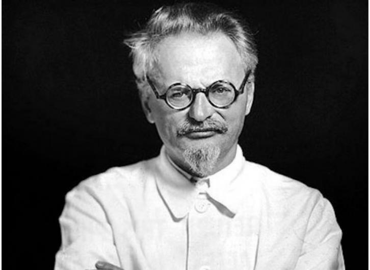 "<figcaption>Leon ""Trotsky."" Born Lev Davidovich Bronstein</figcaption>"