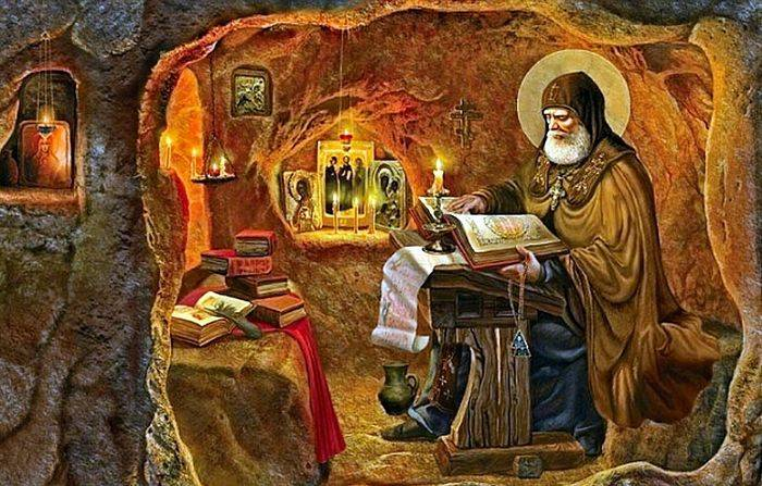 <figcaption>Saint Nestor the Chronicler of Kiev</figcaption>