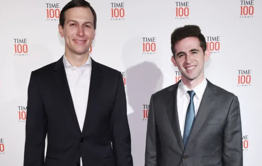 <figcaption>Kushner and co-ethnic Avi Berkowitz</figcaption>