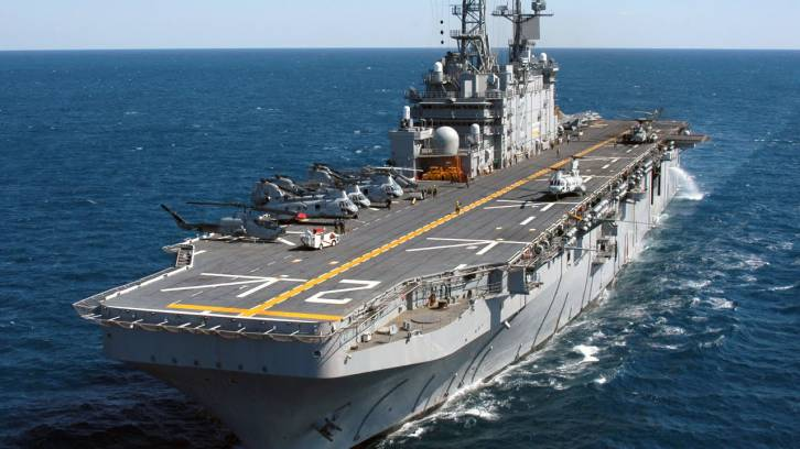 <figcaption>The comparable French Mistral-class</figcaption>