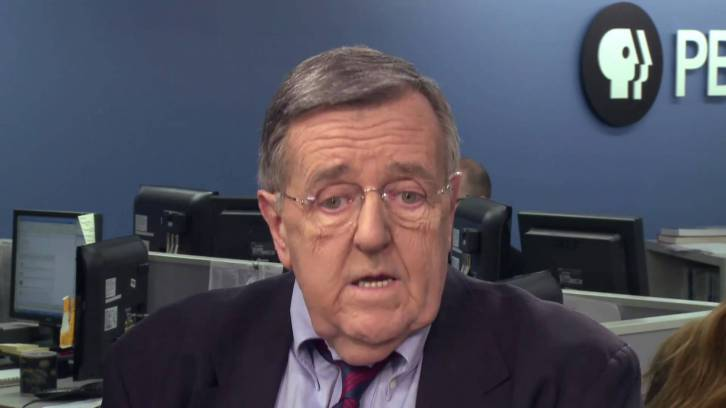 <figcaption>PBS's grandmotherly Mark Shields. When will these preposterous frauds masquerading as 'journalists' finally get run out of town?</figcaption>
