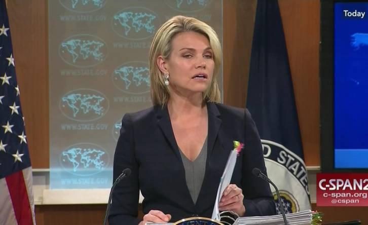 <figcaption>Heather Nauert: Iraq 'needs to make a choice'</figcaption>