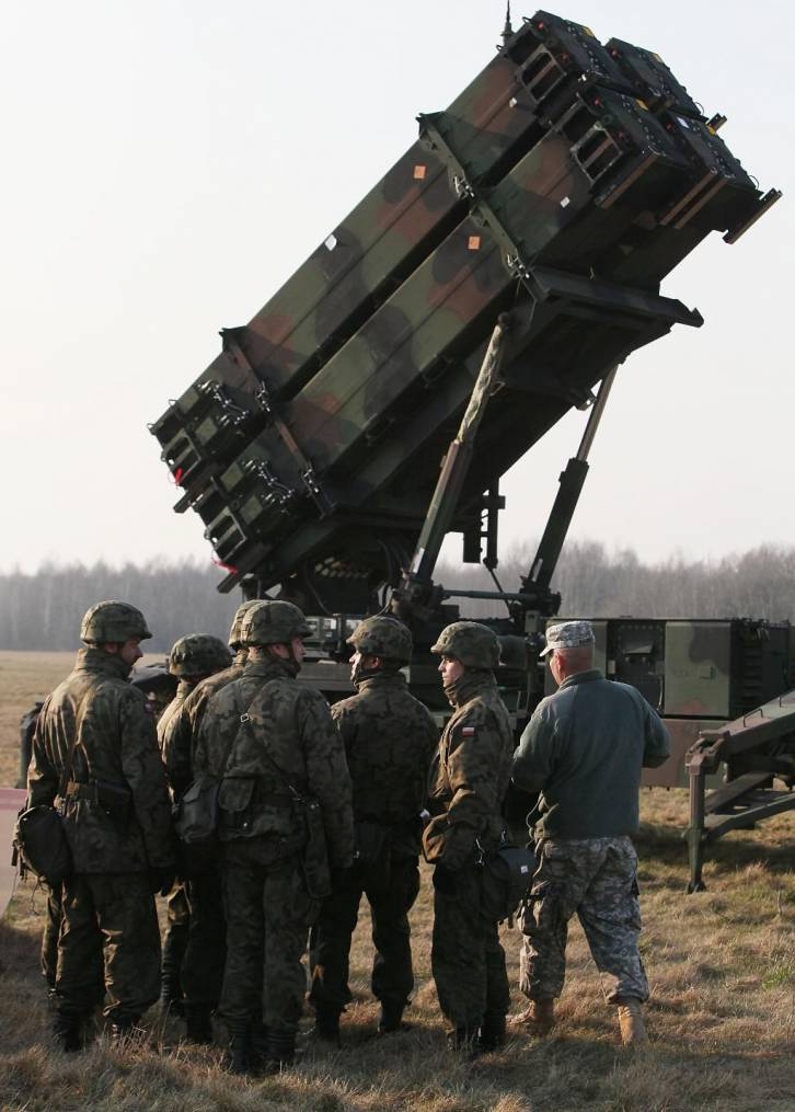 <figcaption>The Patriot air-defense system can destroy incoming aircraft and missiles</figcaption>