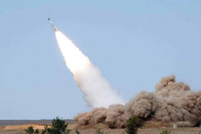 <figcaption>Test-fire of Russian short-range anti-ballistic missile on June 21, 2016 from the Sary-Shagan testing ground in Kazakhstan</figcaption>
