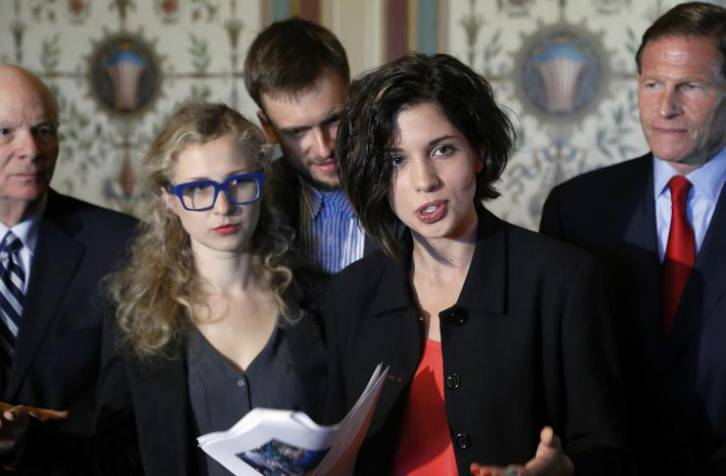 <figcaption>Members of the Pussy Riot address U.S. lawmakers after being convicted of hooliganism in Russia. Demonstrators and now dancers have been charged with the same offense in Russia since Pussy Riot stopped making headlines | Photo: Reuters, Jonathan Ernst</figcaption>