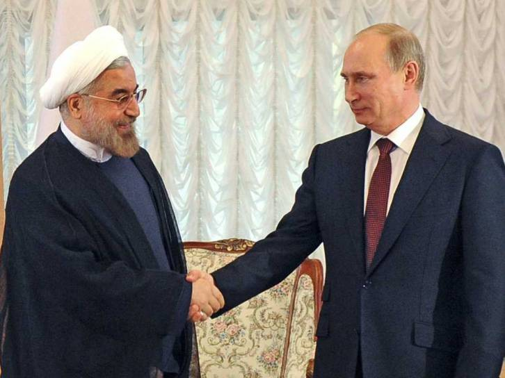 <figcaption>Tehran is flirting with Moscow—but it isn't about to fall into Putin's arms.</figcaption>