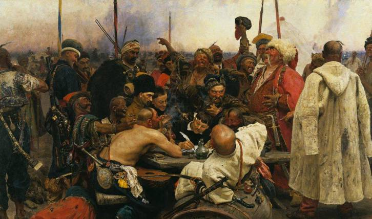 <figcaption>The times when Ukrainian Cossacks wrote insulting letters to Sultan defying his authority as on this painting by famous Russian artist Ilya Repin, are long gone</figcaption>