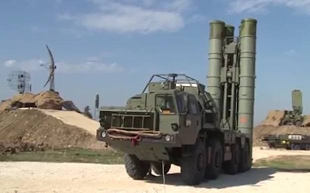 <figcaption>S-400 deployed to Russian airbase in Syria</figcaption>