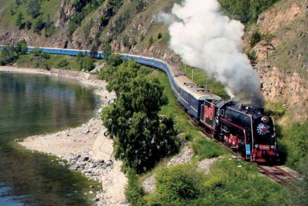 <figcaption>The Trans-Siberian Railway</figcaption>
