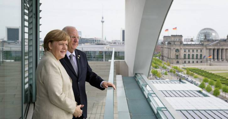 Chancellor Angela Merkel received Israel's President at the Federal Chancellery Photo: Bundesregierung/Kugler