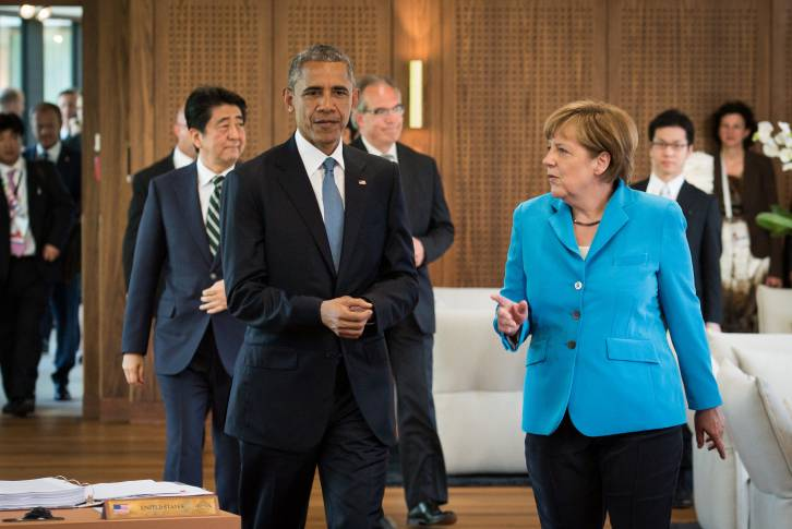 President Barack Obama and German Chancellor Angela Merkel in Munich - Bundesregierung/Kugler
