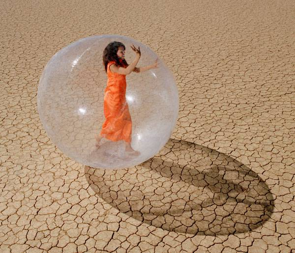 <figcaption>Alone in the bubble</figcaption>