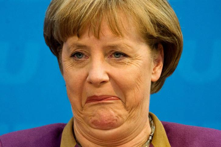 <figcaption>A Merkel Boo Hoo moment </figcaption>