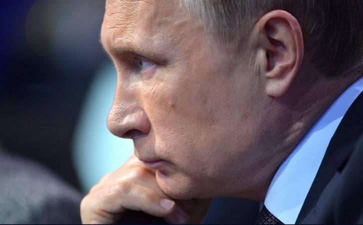 <figcaption>Vladimir Putin at a media meetup this week (Kremlin)</figcaption>