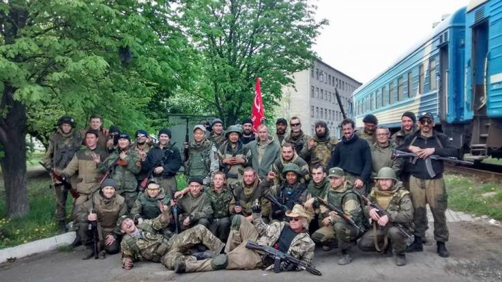 <figcaption>Texas' own Russell Bonner Bentley, and a company of Donbass liberators</figcaption>