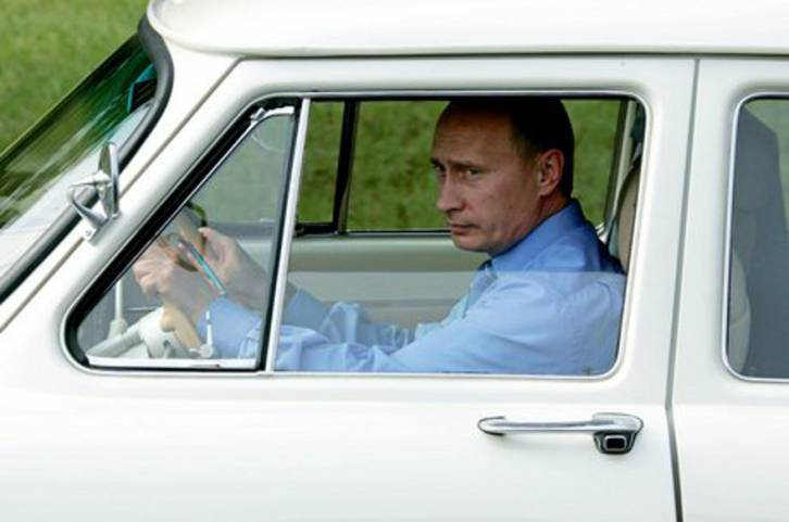 <figcaption>Hop in Alexis! It's a Volga, and it runs great (Vladimir Putin's Personal Website)</figcaption>