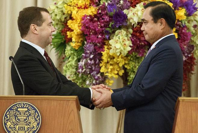 <figcaption>Thailand and Russia signed five agreements aimed at boosting cooperation</figcaption>