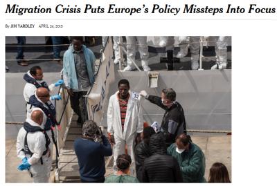 """<figcaption>""""Нью-Йорк таймс"""" любит порассуждать о недостатках миграционной политики европейцев</figcaption>"""