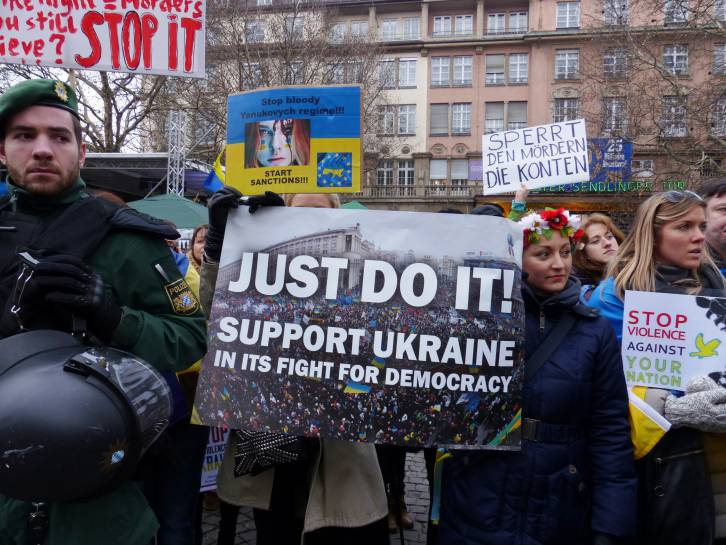 <figcaption>The West's support of the Ukraine revolution could have been a tipping point in bad relations with Russia.</figcaption>