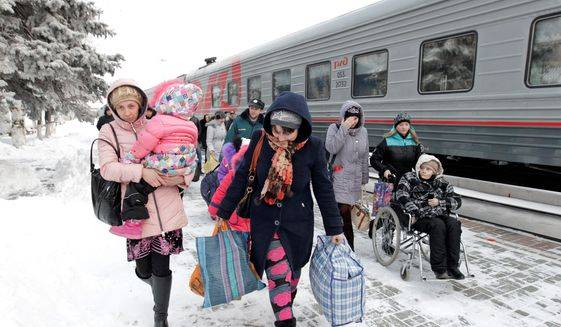 <figcaption>The ongoing security situation and lack of economic opportunities has Ukrainians leaving in droves for the West — and even Russia. However, some say the exodus will allow for new opportunities at home. (Associated Press)  </figcaption>