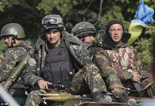 <figcaption>The Ukrainian army is currently shelling Sakhanka.</figcaption>