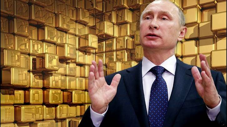 <figcaption>Nearly a fifth of Russia&#039;s reserves are now in gold</figcaption>