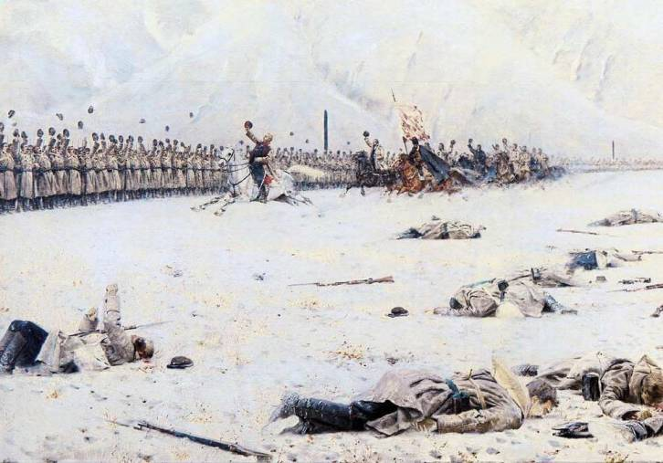 <figcaption>Painter Vassily Vereshagin: Russian army triumphs victory over Turkey in 1878</figcaption>